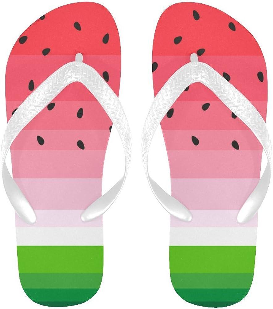 InterestPrint Men's Flip Flop Slippers, Watermelon Summer Beach Thong Sandal Outdoor Footwear