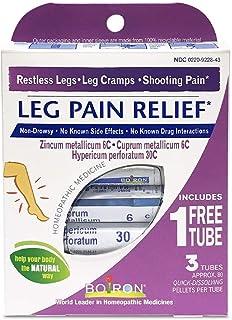 Boiron Leg Pain Relief, 3 Pack of 80-Pellet Tubes, Zincum metallicum 6C Cuprum mettalicum, 6C Hypericum perforatum 30C, Ho...