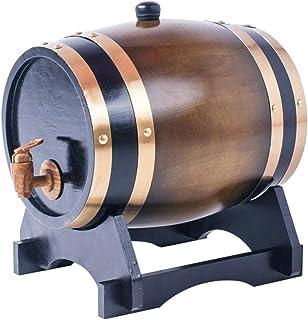 CPSH Tonneau à vin en Bois 3L / 5L / 10L / 15L Tonneau de chêne Distributeur d'eau à Seau à Whisky, Vinification ou Stocka...