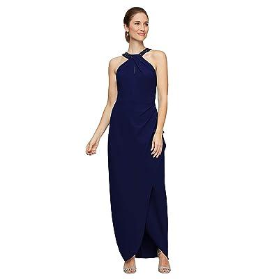 Alex Evenings Long Halter Neckline Dress