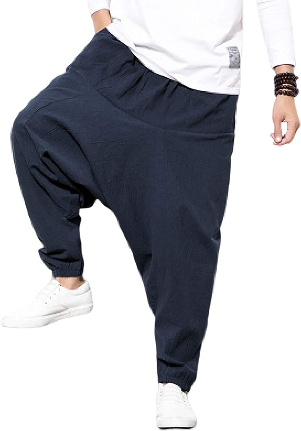 Huntrly Challenge the lowest price Men's Free shipping anywhere in the nation Printed Baggy Harem Pants Pocket Drawstring with W
