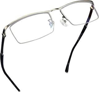 Blue Light Blocking Leesbril, Anti Eyestrain Anti Glare Lens Alloy Lichtgewicht Frame Brillen Vergroting Voor Vrouwen En M...