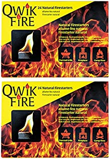 Blackwood Charcoal Qwik Fire 24 All Natural Fire Starters – 2 Pack (48 Total Firestarters)