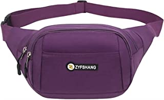 Travel Essential, Stylish and Durable Casual Sportswear Diagonal Small Bag (Color : Purple, Size : 36x6x17cm)
