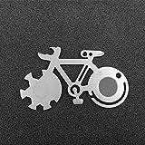 Hihey Fahrrad Form Mountainbike Werkzeugkarte Outdoor Multi-Tool Überlebensmesser Karte Mit Skala Dosenöffner Schraubendreher Schneiden