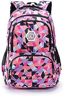 VIDOSCLA Geometric Prints Primary School Student Satchel Backpack Boys Book Bag School Bag for Students