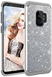 Samsung Galaxy S9 Case, Style4U Phone Cover Shockproof S9 Stylish Case Sparkle No-Mess Glittler Armor Bling Protective Phone Cover for Samsung S9 (Silver Gray)