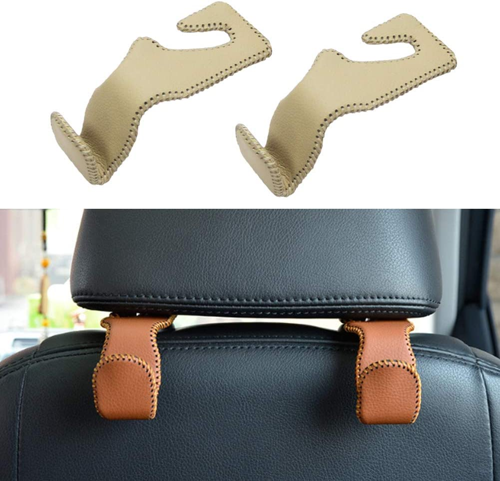 Crystal Car Headrest Storage Hooks 4 Pack,AB 4 Pack Bling Car Back Seat Organizer Hanger Shiny Diamond Car Accessories for Women