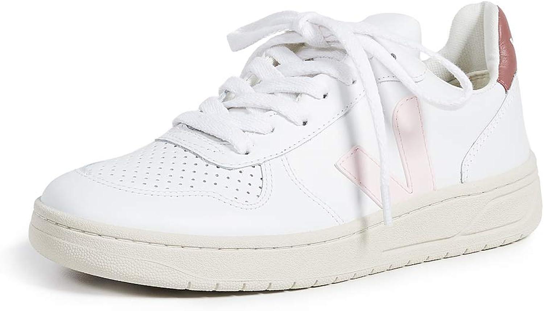 Veja V10 Leather Trainers White 3 UK