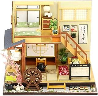 Blue-Yan Casa de muñecas en Miniatura de Bricolaje con Luces LED ? Juego de Rompecabezas de Estilo japonés ? Decoración del hogar, una Buena opción como Regalo