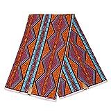 Afrikanischer Stoff – orange-blauer Strohhalm –