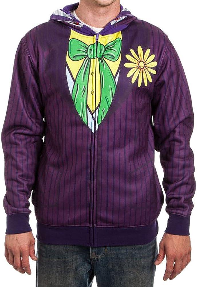 Joker New sales Face Adult Costume Comics Batman Hoodie Dc 2021 model