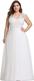 Ever-Pretty Women's Plus Size V-Neck Floral Lace Bridesmaid Dress 07686