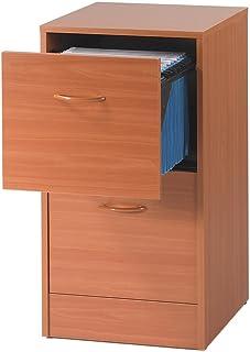 SIMMOB Classeur 2 tiroirs pour dossiers Suspendus - Coloris - Merisier, Bois