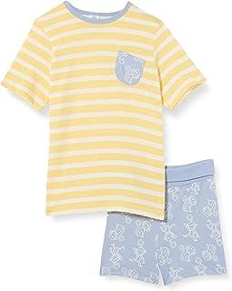Sanetta Pyjama Short Gelb Pantoufles Bambins Bébé Fille