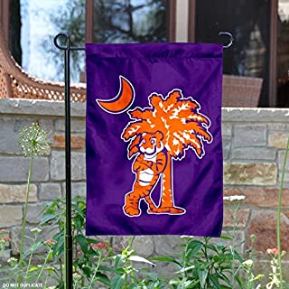 Clemson Tigers Mascot and Palmetto Garden Flag