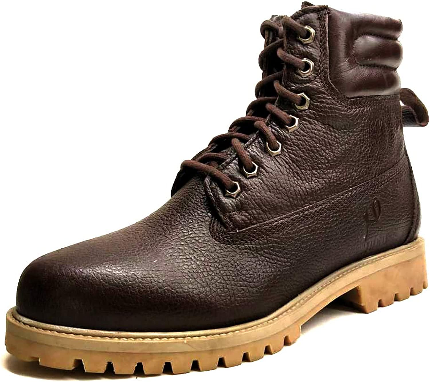 Genuine Leather Premium Lace-up Boot Brown