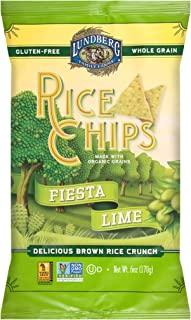 Lundberg Family Farms Rice Chips, Fiesta Lime, 6 Ounce (Pack of 12)