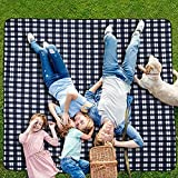 CANWAY Picnic Outdoor Blanket,80'X80'Extra Large Waterproof Picnic Blanket,Oversized XL Soft Foldable Picnic Mat, Lightweight Portable Sandproof Beach Blanket for Family,Friends,Kids