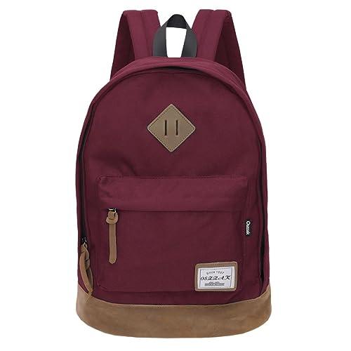 Classical School Bag - OSZZAK Unisex Basic Daily Waterproof Rucksack  Backpack for Student Children Travel Teenager 7b99befe8eb68