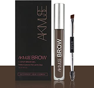 Long Lasting Eyebrow Gel for Waterproof Eyebrow Makeup, Black/Brown Color