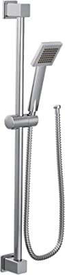 Moen S3879EP 90 Degree Modern Eco-Performance Handshower Handheld Shower with 30-Inch Slide Bar and 69-Inch Metal Hose, Chrome