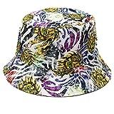 Sombrero reversible con diseño de hojas florales de graffiti 3D, protector solar para pescador, regalo para el día de la madre y Pascua