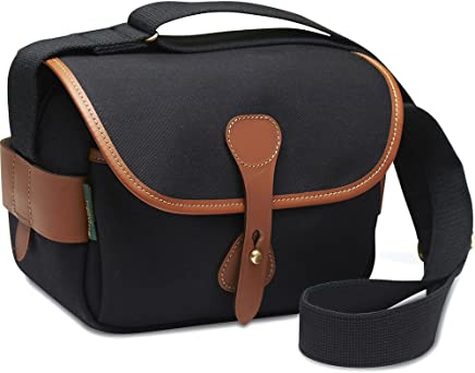 BillinghamS2 Shoulder Bag (Black Canvas/Tan Leather)