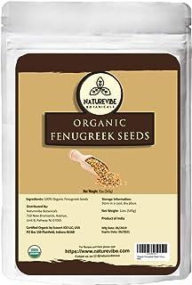 Naturevibe Botanicals Organic Fenugreek Seeds Whole 1Lb, Methi seeds   Gluten Free & Non-GMO   Hair and ski...