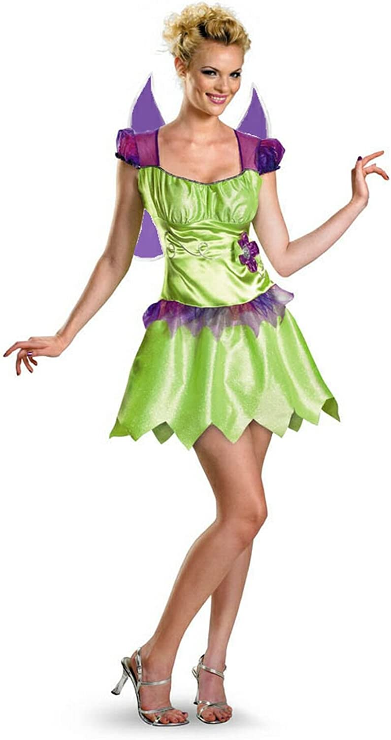 Disguise Tinker Bell Rainbow Classic Adult Costume Size Medium (810)