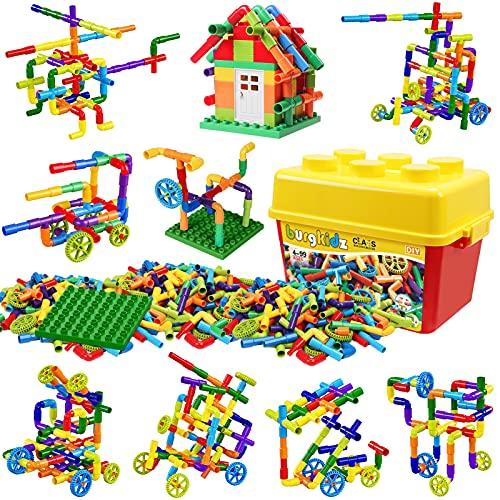 burgkidz 176 Piece Pipe Tube Toy, Sensory Water Tube Locks Construction...