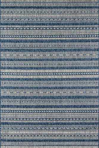 """Novogratz Villa Collection Tuscany Indoor/Outdoor Area Rug, 5'3"""" x 7'6"""", Blue"""