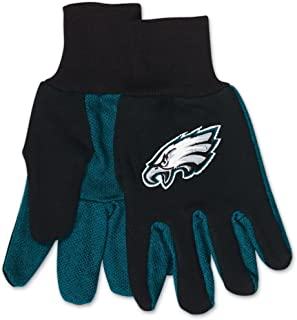 WinCraft NFL Philadelphia Eagles GlovesTwo Tone Style Youth Size Gloves, Team Colors, One Size