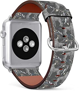 (Wolf, Crow and Native American Indian Tribal Dreamcatcher) Patterned Leather Wristband Strap Compatible with Apple Watch ...