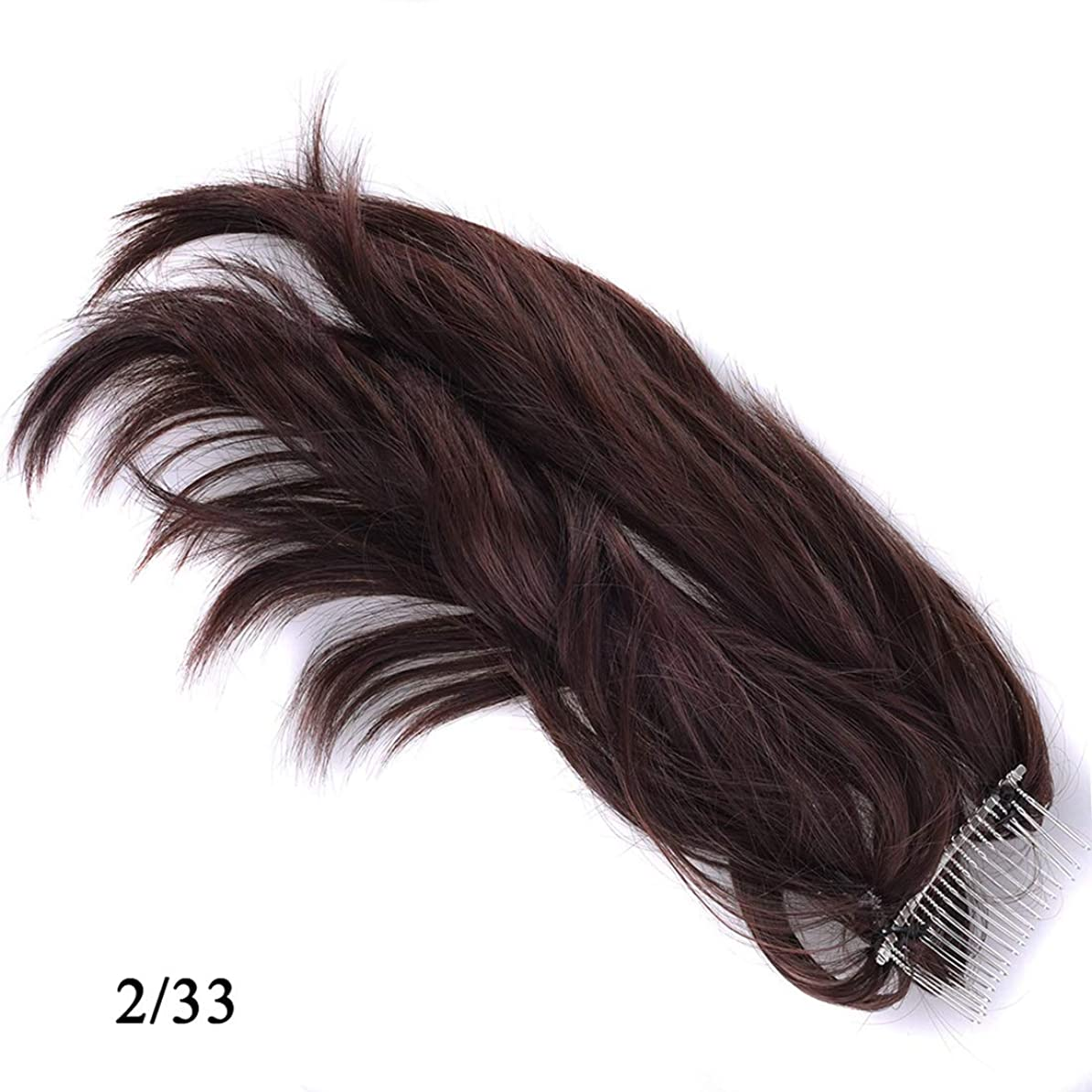 極貧知る毎日JIANFU かつらヘアリング様々な柔軟なポニーテールメタルプラグコムポニーテール化学繊維ヘアエクステンションピース (Color : 2/33)