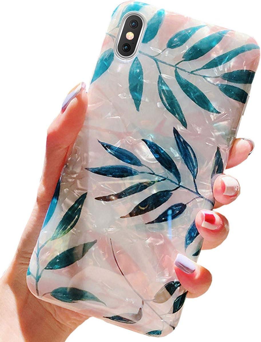 J.west iPhone Xs Case, iPhone X Case, Cute Phone Case Girls Women Glitter Pretty Design Sparkle Translucent Clear Bumper Shockproof TPU Soft Silicone Back Cover Case for iPhone Xs/X 5.8