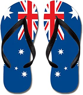 Australia Flag - Flip Flops, Funny Thong Sandals, Beach Sandals