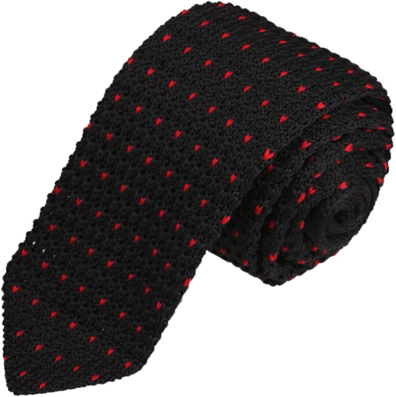 Dan Smith Skinny Knit Neckwear For Wedding Standard Pointed Bottom Skinny Knitted Tie