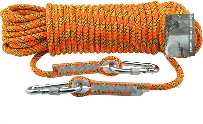 BAI-Fine Descente en Corde, Corde de Nylon de Corde de Puissance de Corde de Puissance de diamètre de 11MM grimpant la Corde d'escalade de Corde de Travail avec la Boucle de Verrouillage 2pcs
