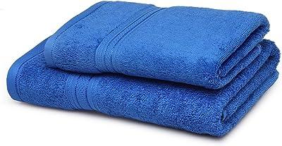TRIDENT Anti Microbial 525 GSM Classic Plus 2 PCS Couple Bath Towel Set-Palace Blue
