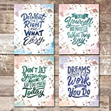 Inspirational Watercolor Quotes (Set of 4) - Unframed - 8x10s