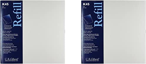 "C.R. Gibson K45 Unimount Magnetic Sheet Refills for the P45 and P3X Series Photo Albums, 12x12"" Pages - 2 Pack"