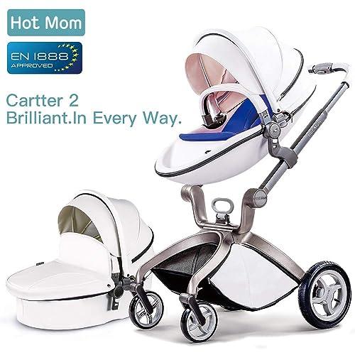Hot Mom Cochecito de Bebe 2017 Multifuncional Sistemas de viaje, buenos amortiguadores, asiento regulable