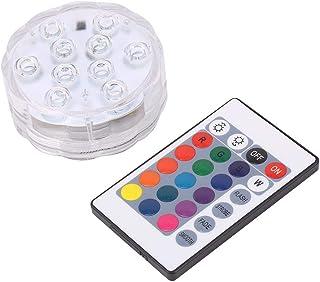 Changement Couleur Télécommande ronde aquarium étanche Bougie Lumière Lampe DEL