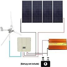 ECO LLC 1600W Wind Solar System with 4X 150W Solar Panel &3000W Inverter & 48V Wind & Solar Hybrid Controller & 1KW Wind Turbine