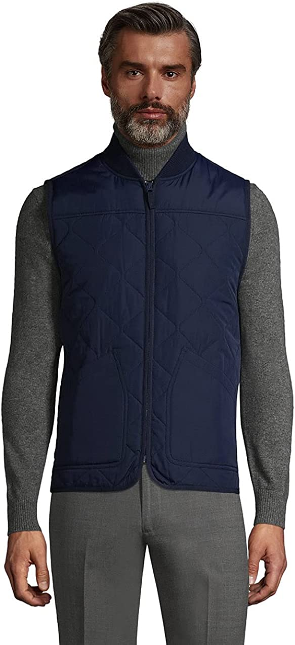 Lands' End Men's Insulated Quilted Vest