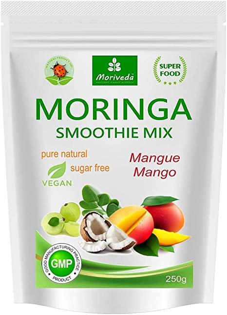 MoriVeda® - Batido de polvo de moringa, potenciador de ...