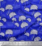 Soimoi Blau Satin Seide Stoff Blume kunstlerisch Dekor