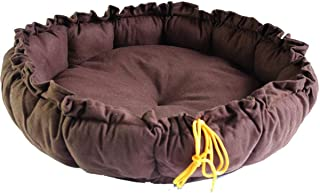 QRYY size Candy Color Pumpkin Shape Kennel House Eco-friendly Dog Bed Mat Sofa Pets Beds For Various Dogs Supplies - Coffee