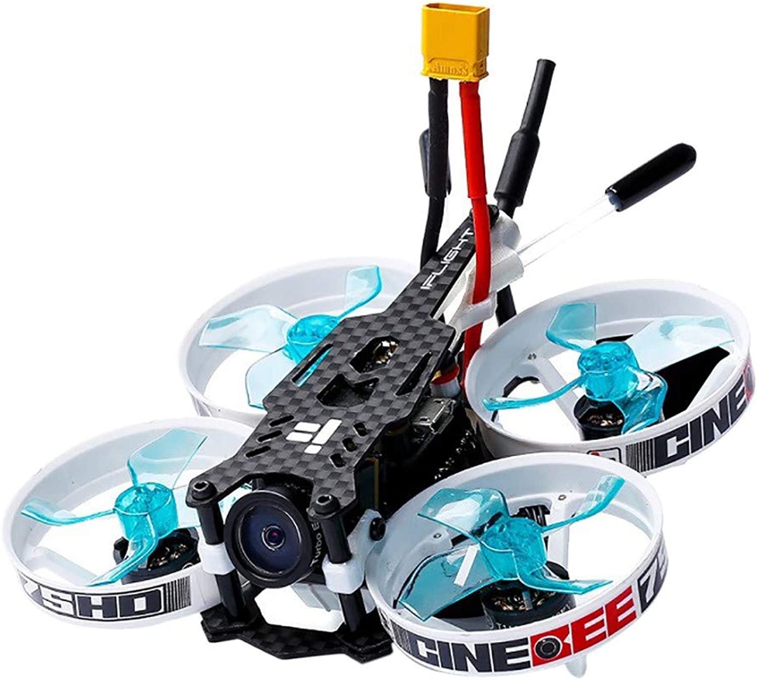 Qomomont iFlight CineBee Mini Racing Drone 75HD Indoor FPV Mini Quadrocopter 75mm mit FS-A8S V2 Pocket Helikopter für Anfnger
